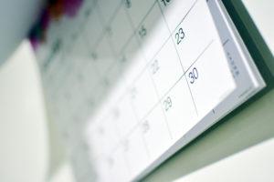 30 Day Calendar Chs